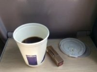 Terrible coffee on train