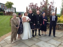 Jenny, Kieran and their parents and grandparents