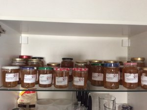 Cupboard full of lemon marmalade