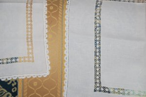 Rosina's typical Sardinian embroidery