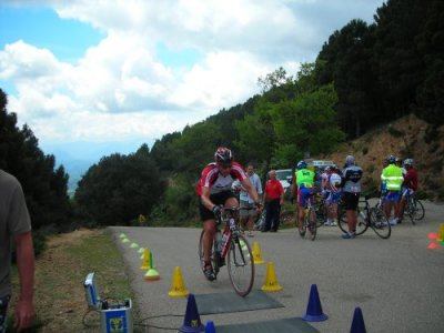 Giro Sardinia: Alastair after climb to Monte Senes