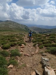Punta La Marmora - start of the wonderful singletrack descent