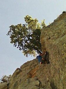 Peter climbing Meatfly, Il Piccolo Principe, Monte Oro, Baunei