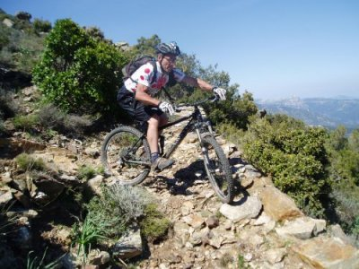 Sardinia mountain biking MTB Talana Sorberine switchback