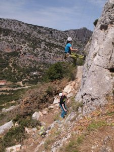 Philip and Philippa on Ebano, 6a, Il Pozzo, Monte Oro, E coast Sardinia