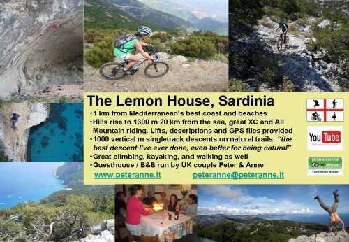Sardinia mountain bike The Lemon House Single Track World ad 2011