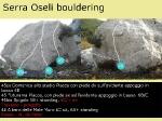 topocard per alcuni blocchi a Serra Oseli