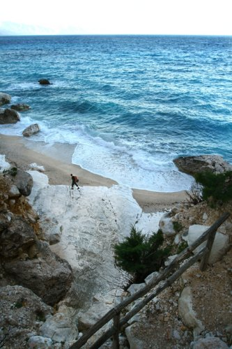 Bruce on beach Cala Goloritzè